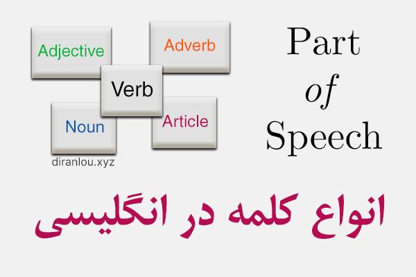 انواع کلمه در انگلیسی Part of Speech
